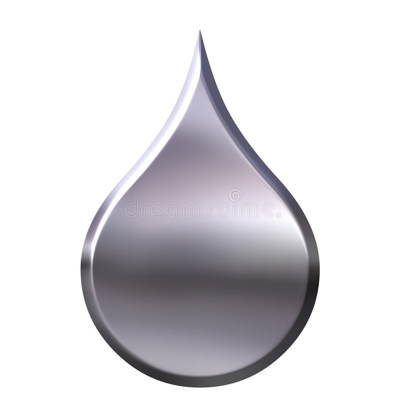 Liquid Metal Drop vector illustration