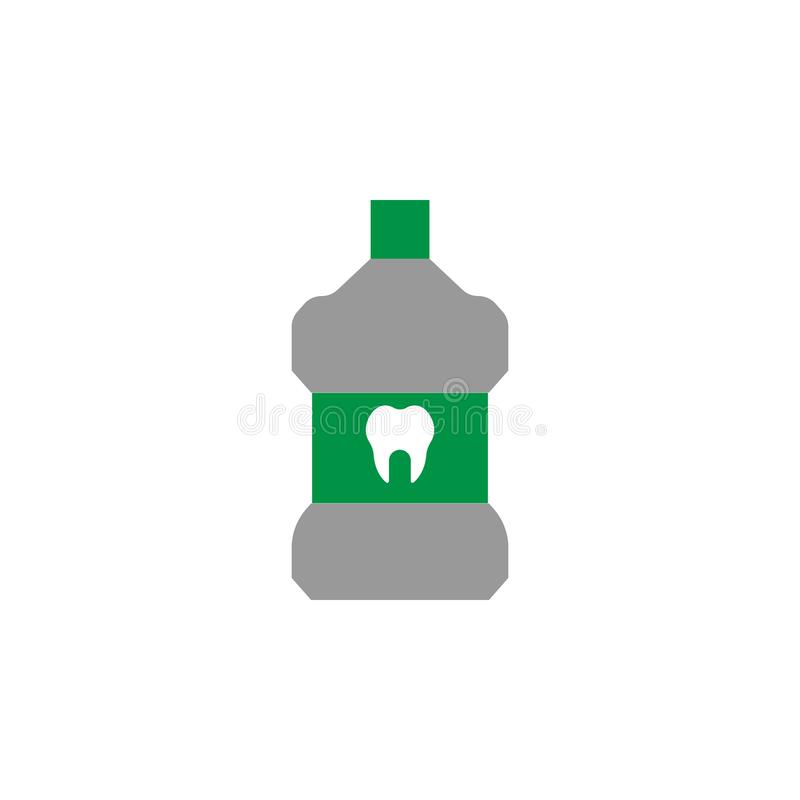 Liquid and oral icon. Element of Dental Care icon for mobile concept and web apps. Detailed Liquid and oral icon can be used for. Web and mobile on white vector illustration