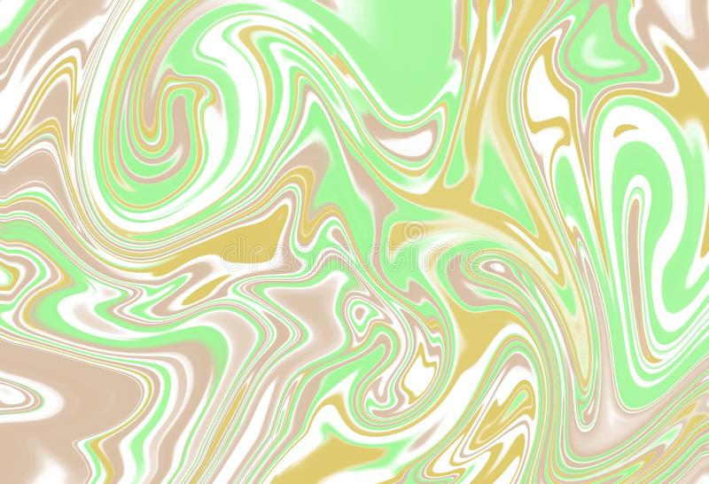 Liquid paint. Fluid art. The ornament of marble. stock illustration