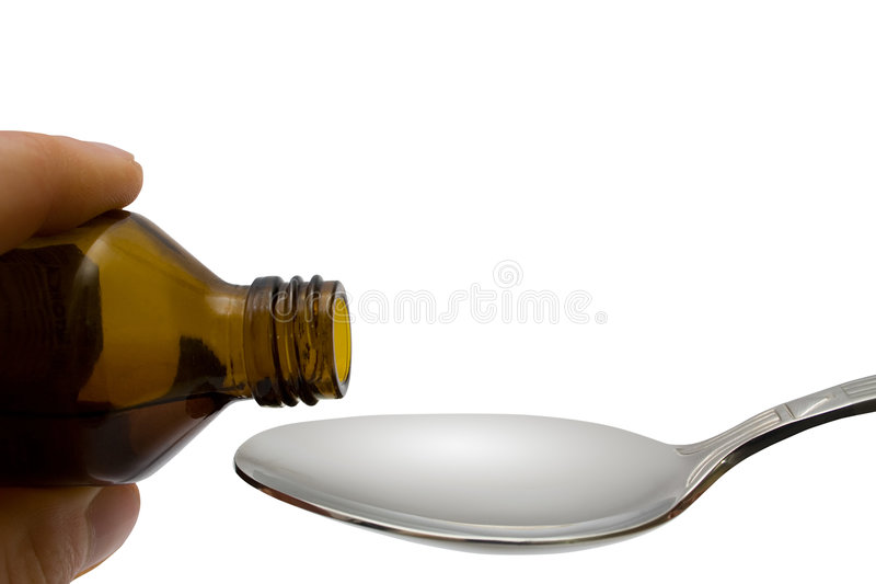 Liquid Pour In Spoon Stock Photography