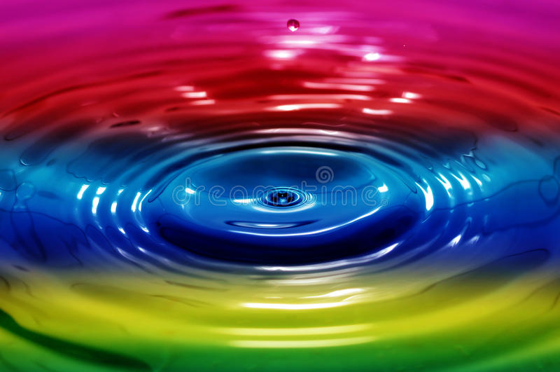 Liquid rainbow. Rainbow colors water ripples abstract background