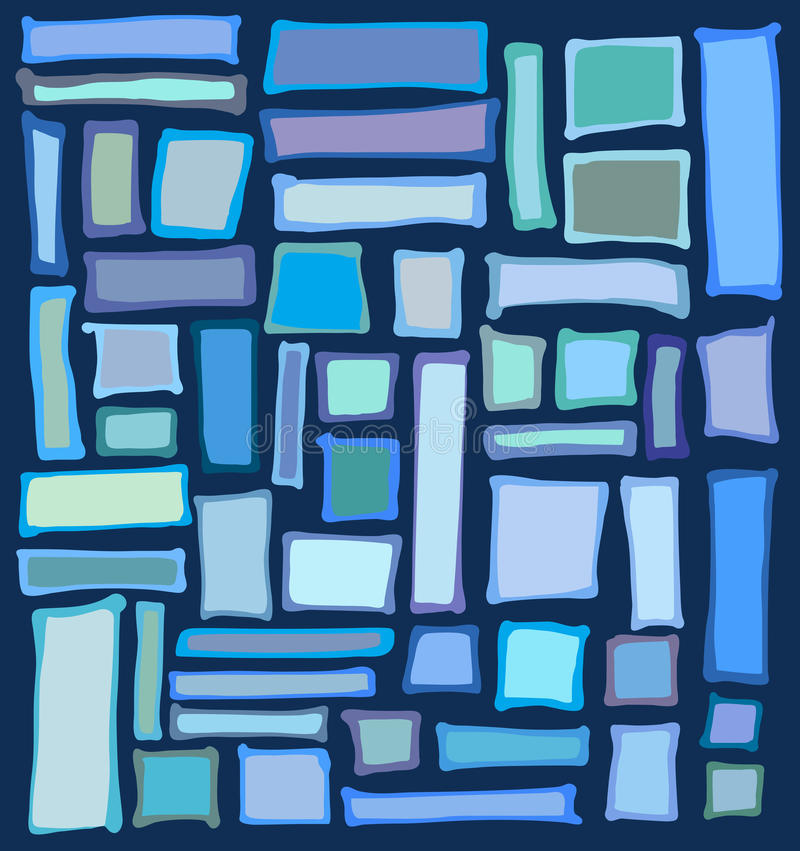 Liquid rectangle and square shapes in blue purple vector illustration