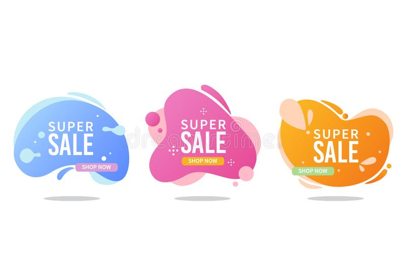 Liquid sales banner collection stock image