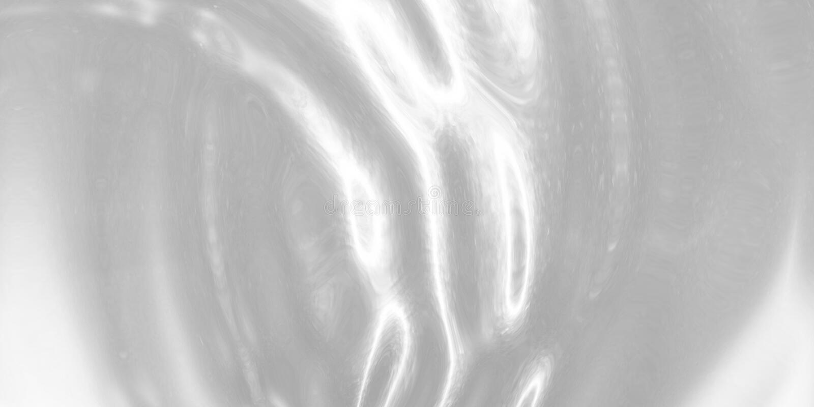 Liquid silver metal rippled background. Ropples effect. Abstract brushed metal texture. Wide realistic illustration royalty free illustration