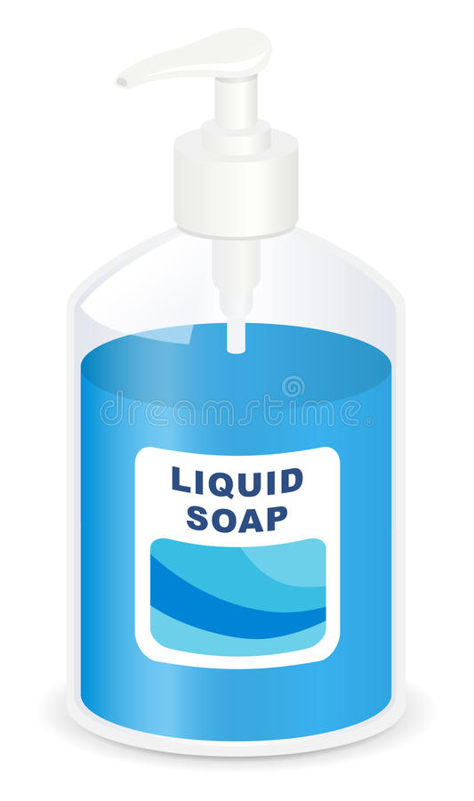 Download Liquid soap stock vector. Illustration of object, white - 13529789
