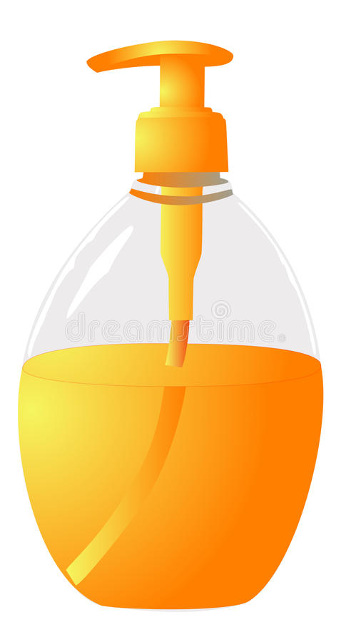 Download Liquid Soap stock illustration. Image of dish, chemical - 24667212