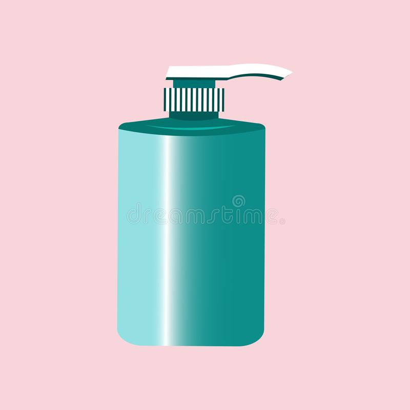 Liquid soap for hands on a light background. vector illustration