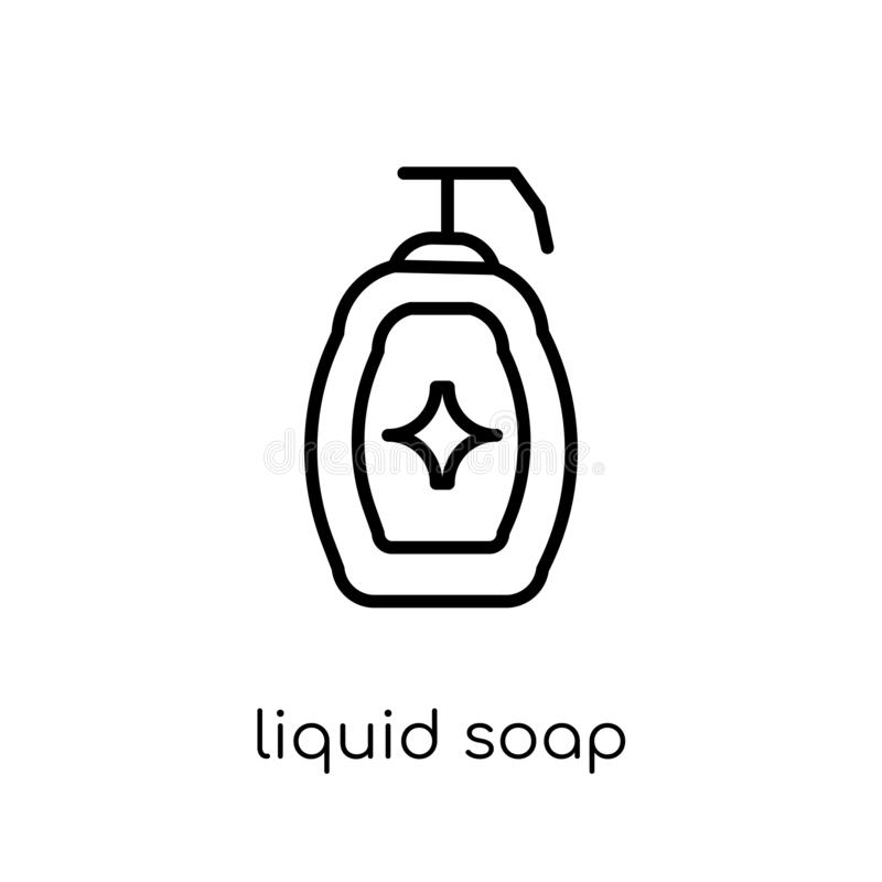 Liquid soap icon from collection. stock illustration