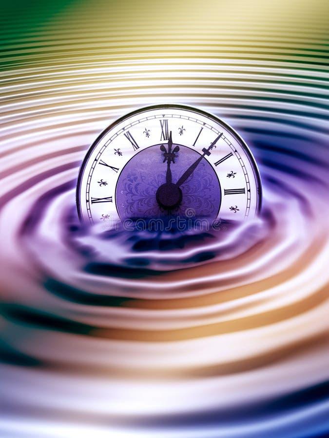 Liquid time stock illustration