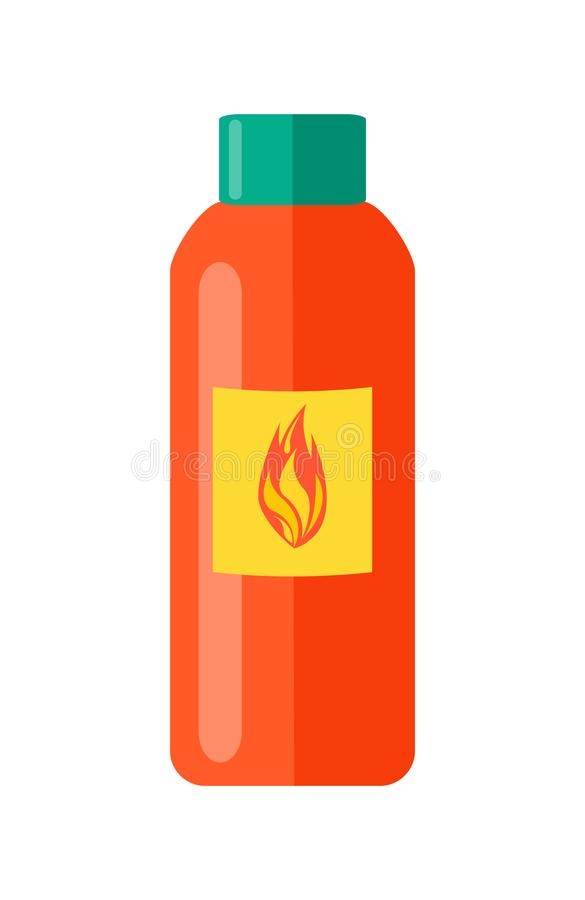 Liquid to Fire Isolated Illustration on White royalty free illustration