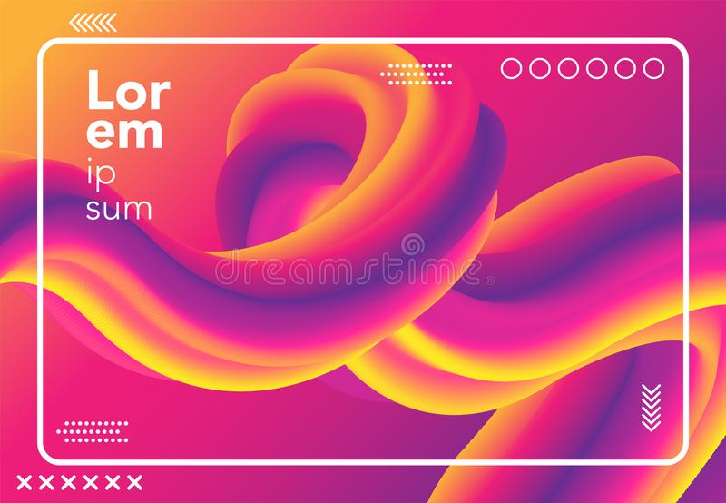Liquid wave background. colorful 3d flow shape. abstract fluid gradient composition for banner, poster, cover. vector illustration. Template vector illustration