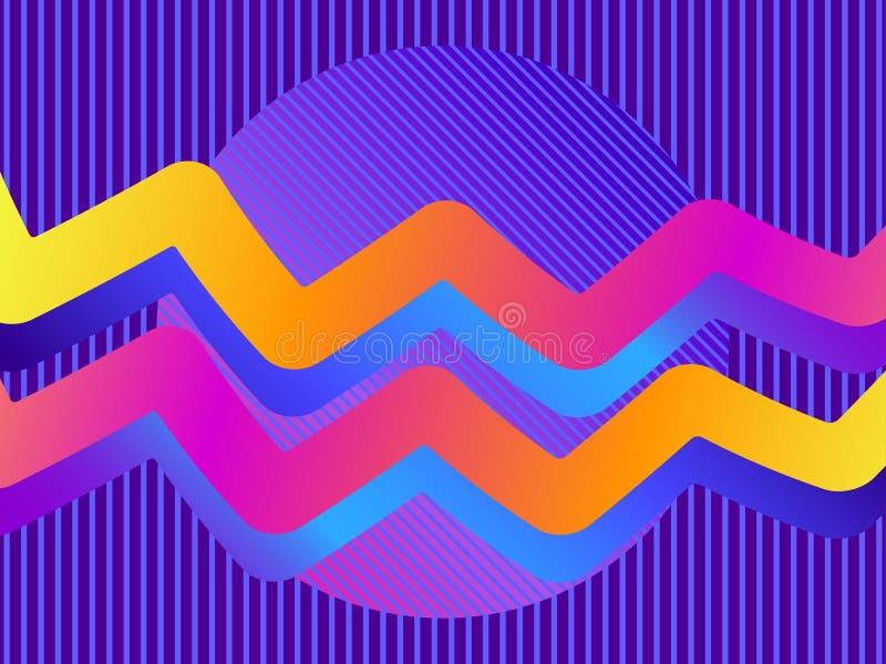 Liquid wave, violet gradient. Modern trend background. Synthwave, futurism background. Retrowave. Vector. Illustration vector illustration