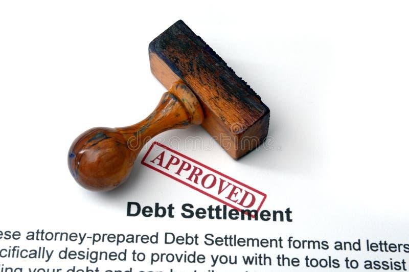 Liquidação da dívida imagens de stock
