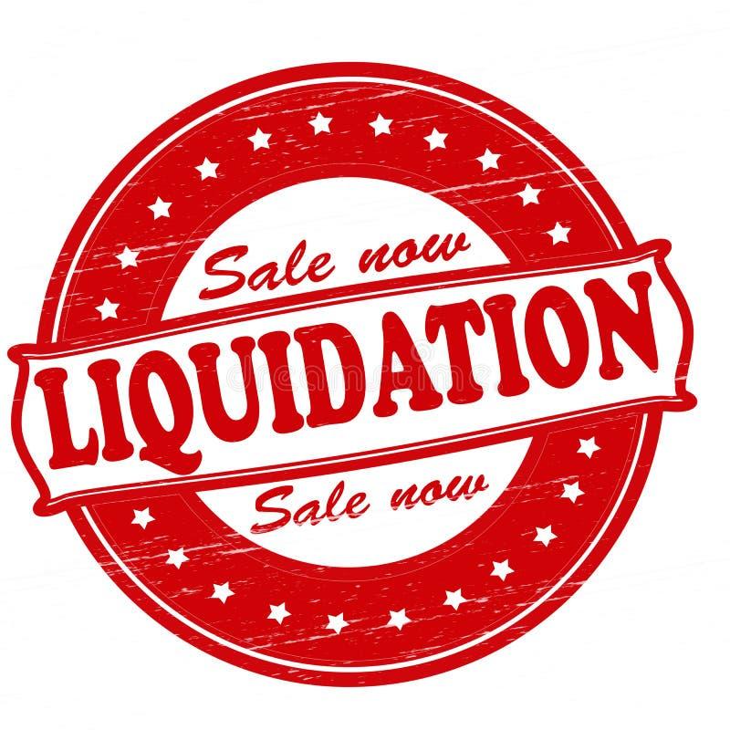 liquidation illustration de vecteur