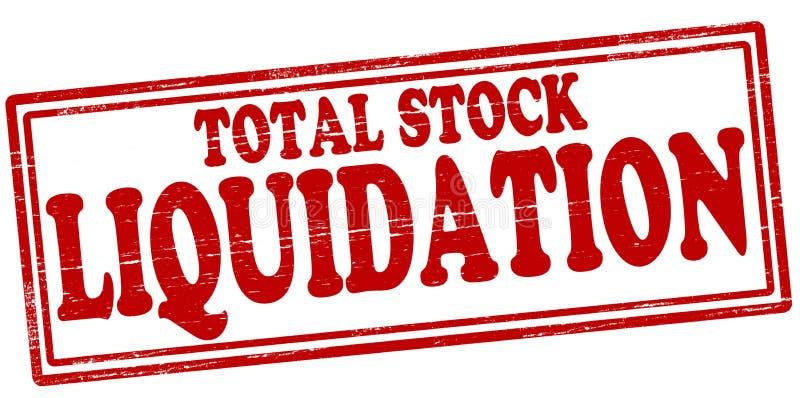 Liquidation courante totale illustration libre de droits