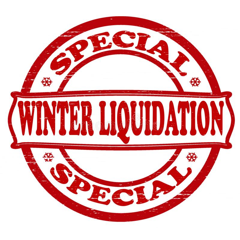 Liquidation d'hiver illustration stock