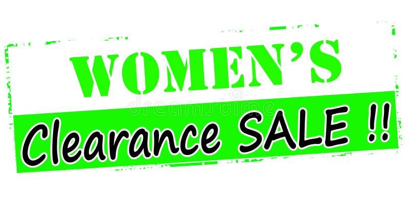 Liquidation de femmes illustration stock