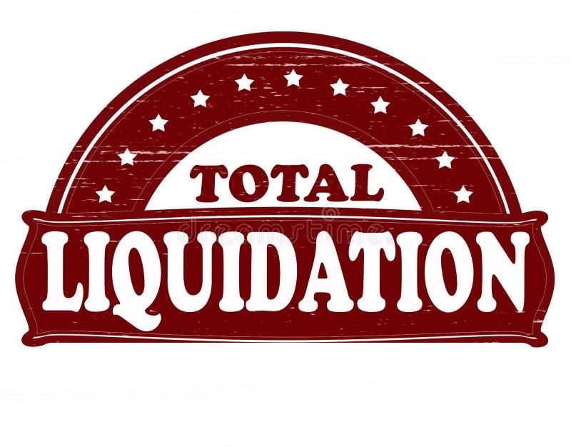 Liquidation totale illustration de vecteur