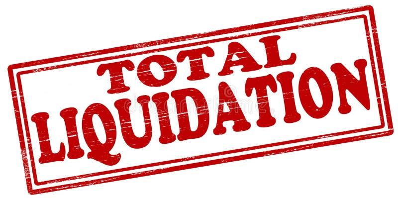 Liquidation totale illustration libre de droits