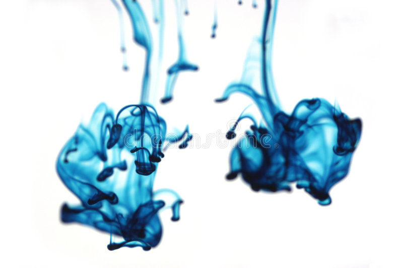 Liquide bleu abstrait photo stock