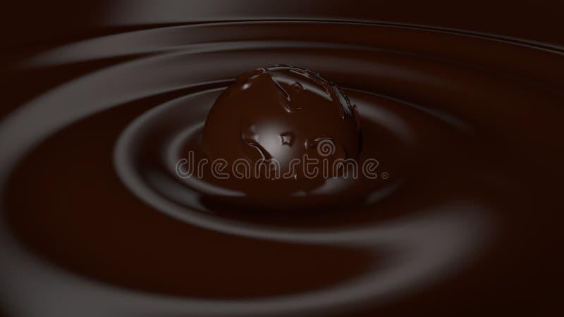 liquide czekoladowy praline ilustracja wektor
