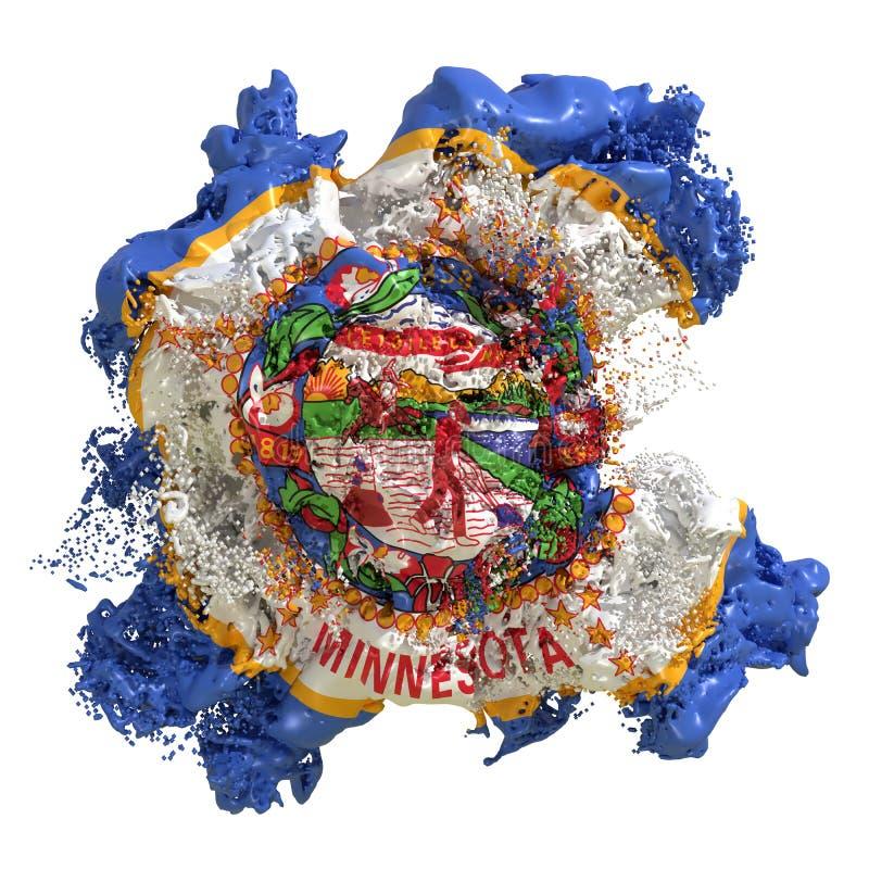 Liquide de drapeau du Minnesota illustration stock