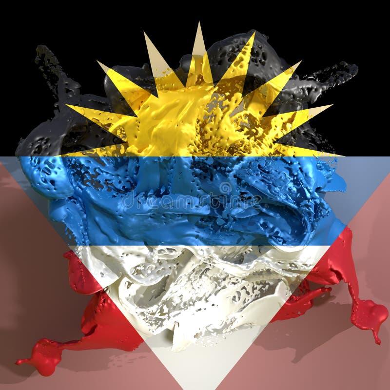 Liquide de drapeau de l'Antigua-et-Barbuda illustration stock