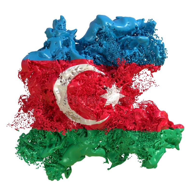 Liquide de drapeau de l'Azerbaïdjan illustration de vecteur