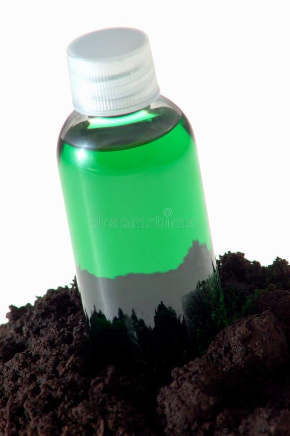 Liquide et saleté verts images libres de droits