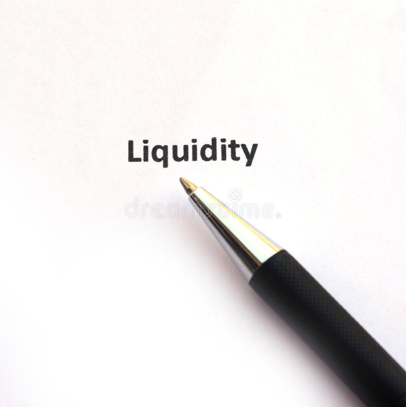 Free Liquidity With Pen Stock Image - 79409391