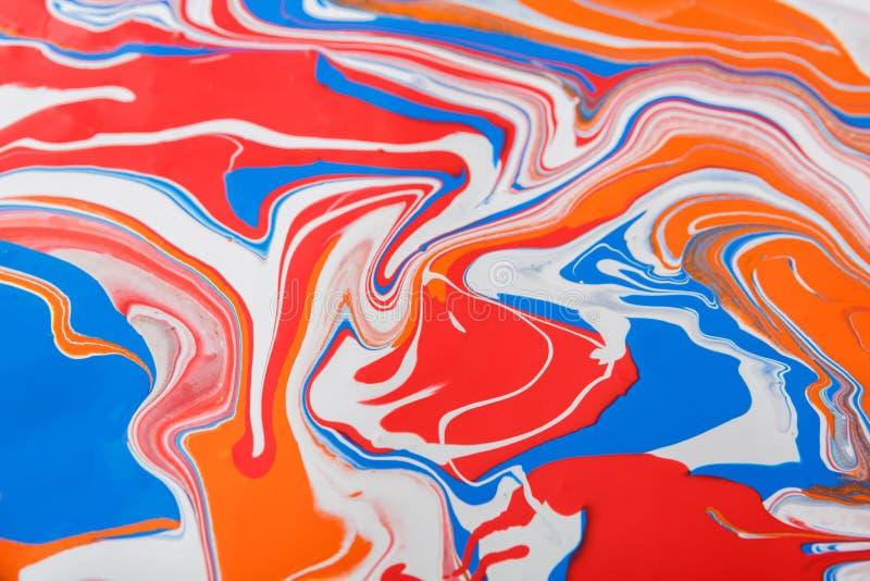 Liquido che marmorizza il fondo della pittura acrilica Struttura fluida dell'estratto della pittura immagini stock libere da diritti
