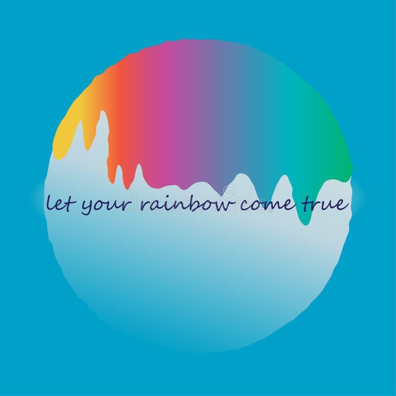 Liquido dell'arcobaleno illustrazione di stock