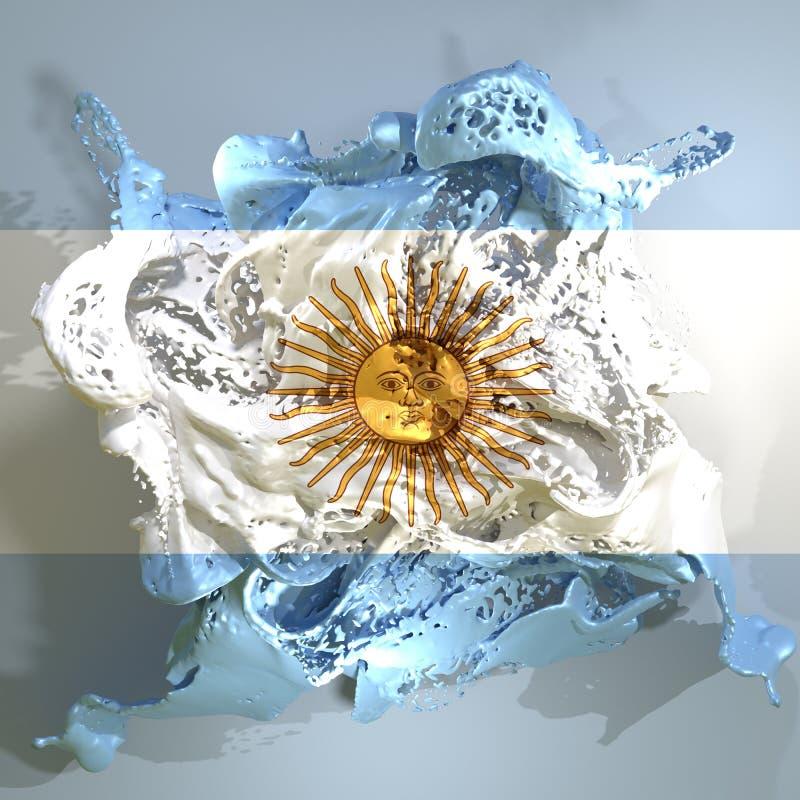 Liquido della bandiera dell'Argentina royalty illustrazione gratis