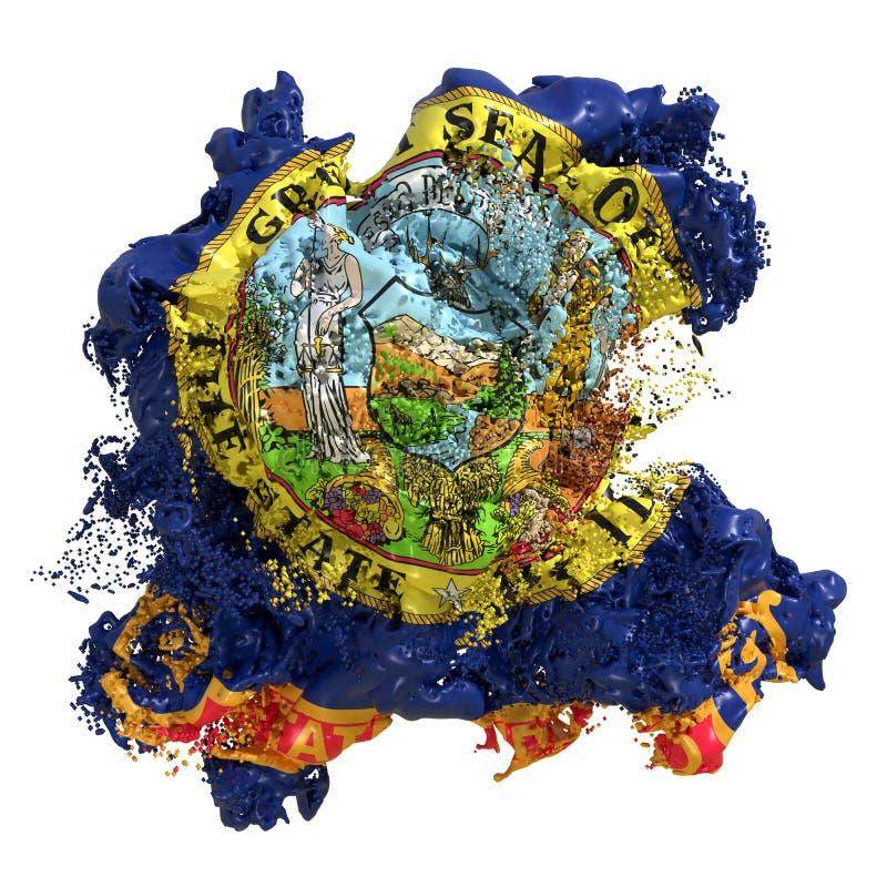 Liquido della bandiera dell'Idaho illustrazione vettoriale