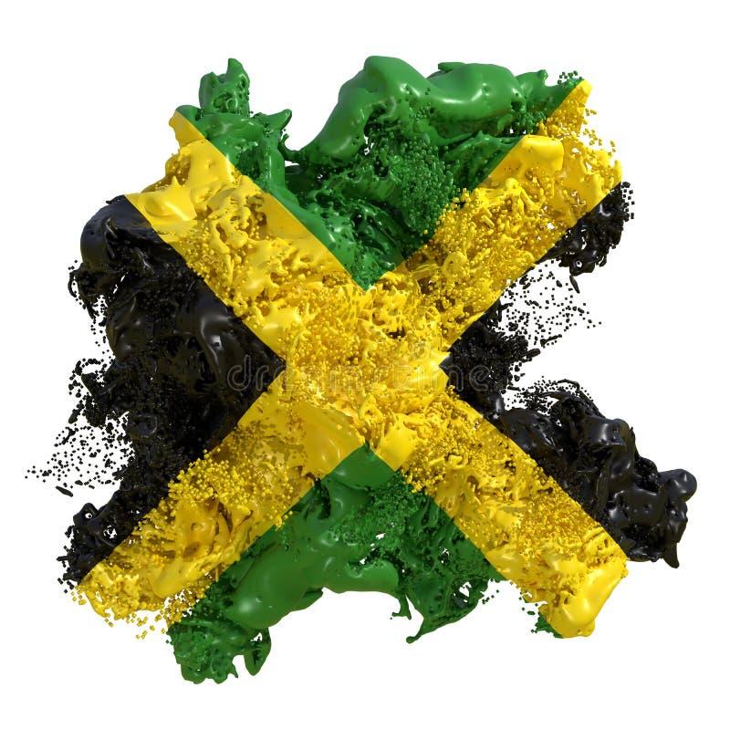 Liquido di bandiera della Giamaica illustrazione di stock