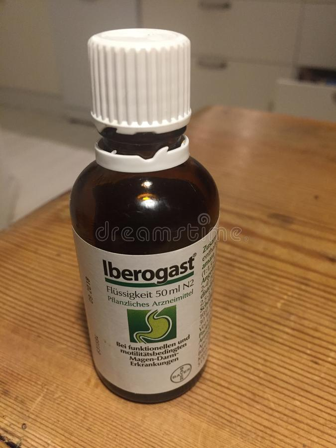 Liquido di Bayer Iberogast fotografia stock