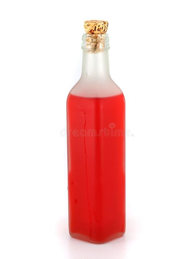 Liquido rosso fotografia stock
