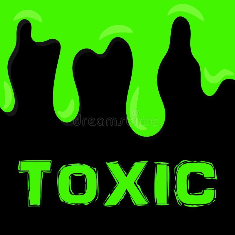 Liquido tossico verde su fondo scuro Sostanza radioattiva royalty illustrazione gratis