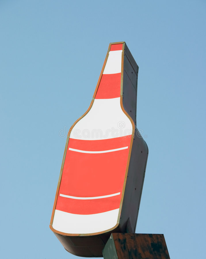 Download Liquor Bottle Sign Royalty Free Stock Images - Image: 2485919