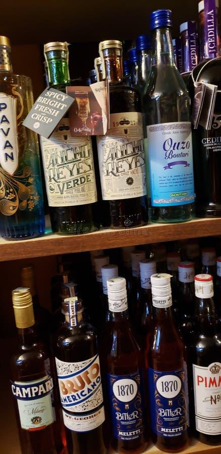 Liquor Bottles royalty free stock photos