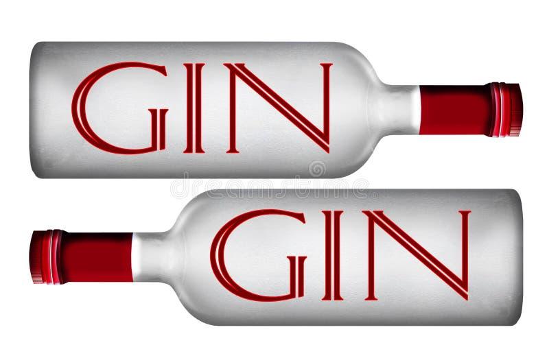 Liquor bottles Sign. Liquor bottles Liqueur Gin Bottle stock illustration