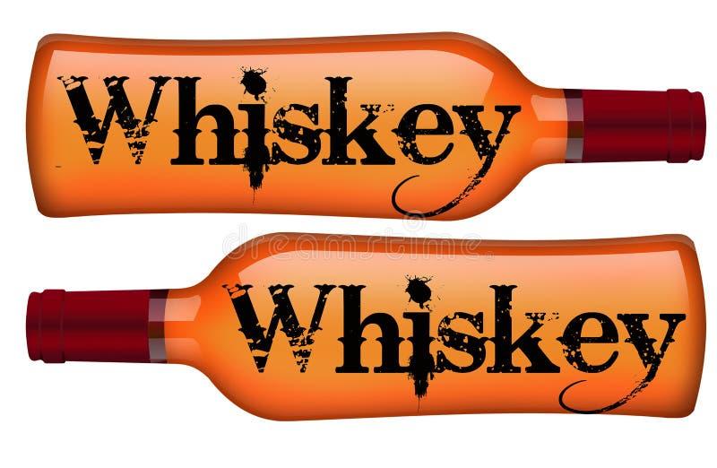 Liquor bottles Sign. Whiskey Bottle stock illustration