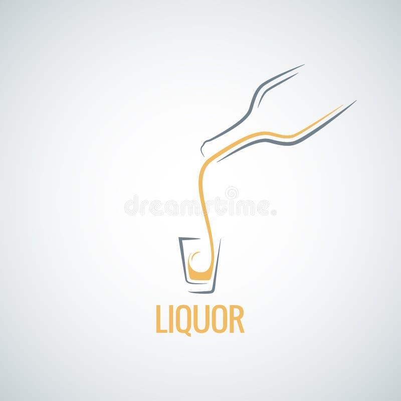 Liquor shot glass bottle background. 8 eps vector illustration