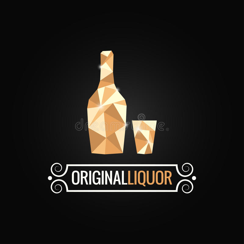 Liquor store poly design background. 10 eps royalty free illustration