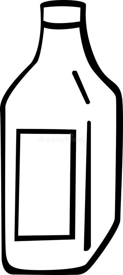 Liquor or wine bottle vector illustration. Vector illustration of a liquor or wine bottle royalty free illustration