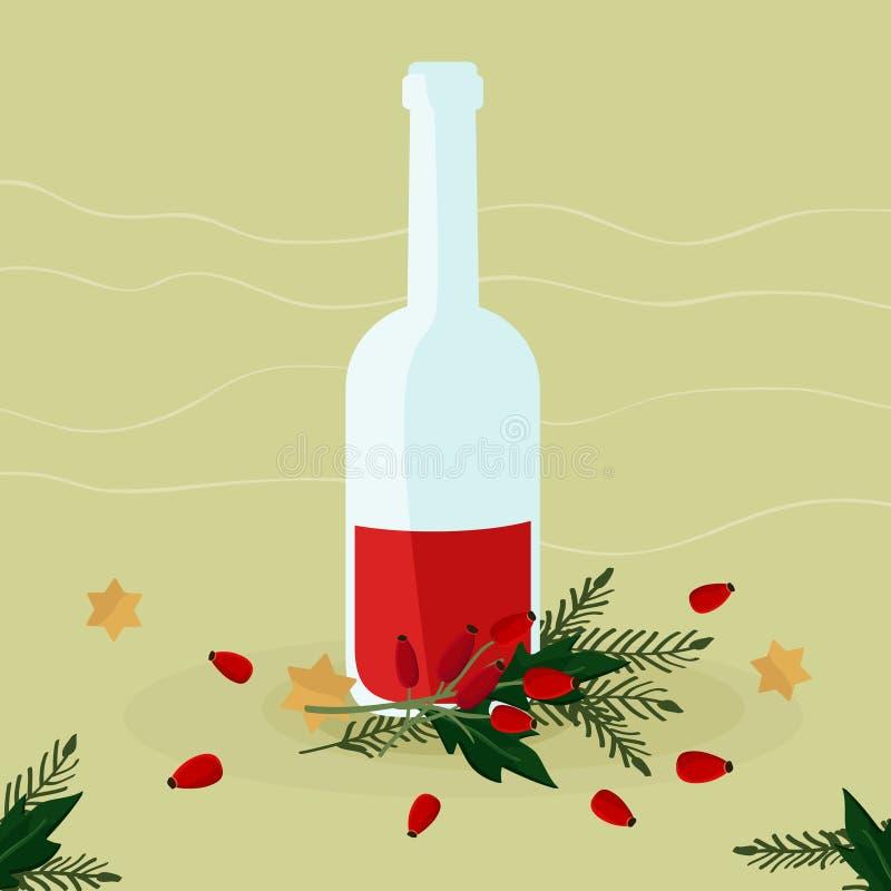 Liquore del cinorrodonte royalty illustrazione gratis