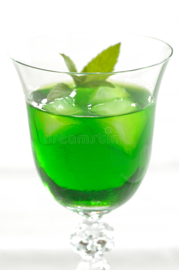 Liquore della menta immagini stock