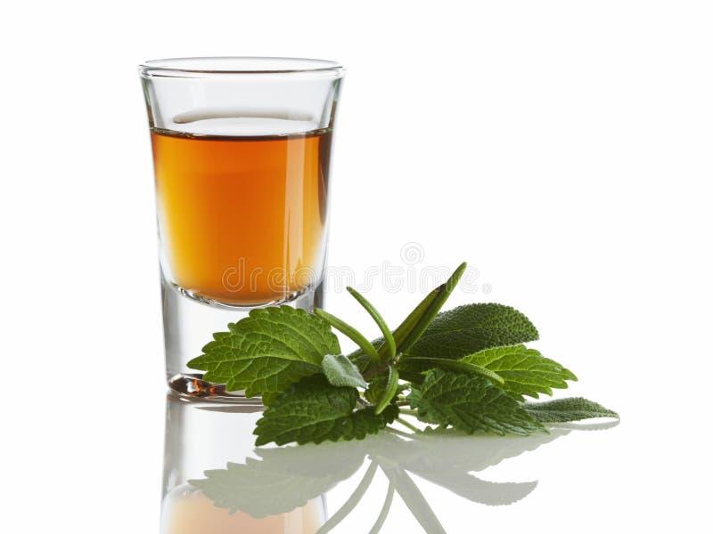 Liquore di erbe fotografia stock
