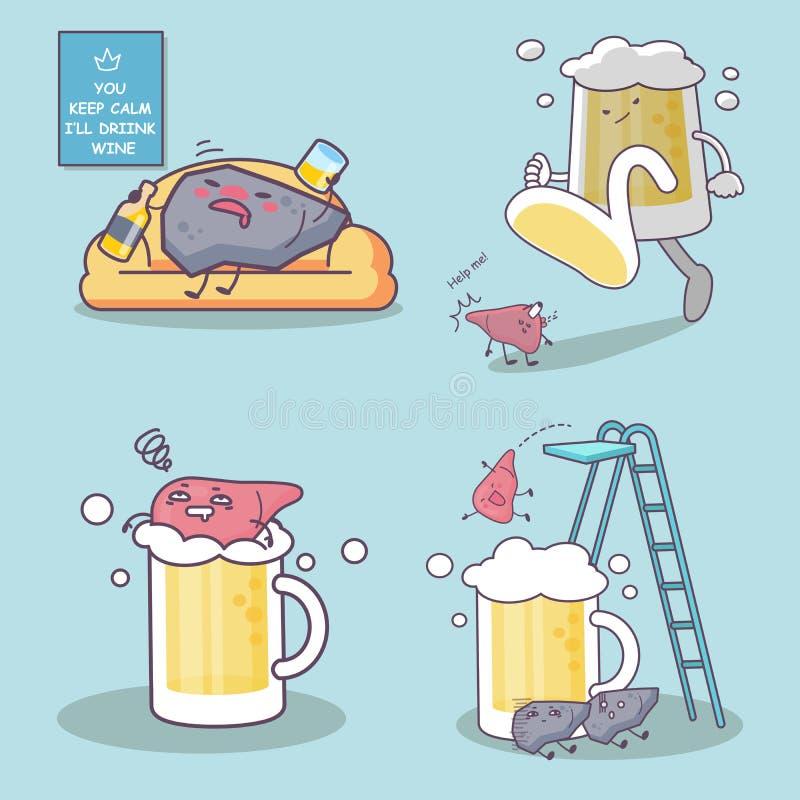 Liquore e fegato royalty illustrazione gratis