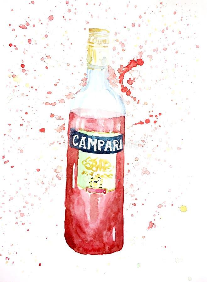 Liquore rosso di aperetivo royalty illustrazione gratis